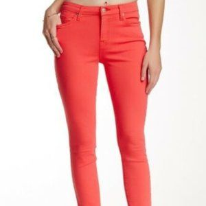7 For All Mankind Women's Skinny Ankle Pink Jeans